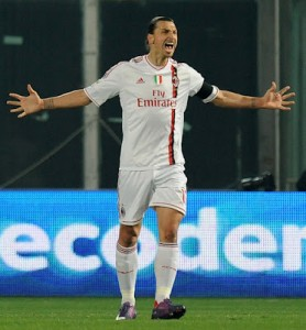 Milan's Zlatan Ibrahimovi